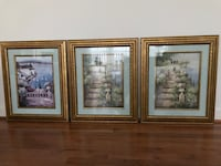 Soft scenic pictures with wooden gold painted frames Centreville, 20120