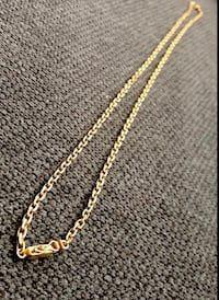 "Custom made 18K gold necklace approx 26"" length. Surrey, V3Z 5K3"