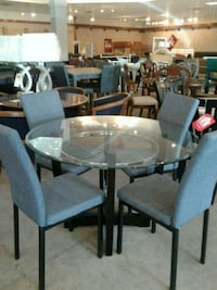 Glass Dining Table with four chairs sale  Phoenix, 85018