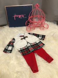 baby's white-and-red The Princess has Arrived outfit set with box Newcastle, 73065