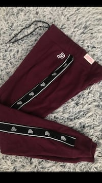 maroon and white Adidas track pants Hesperia, 92345