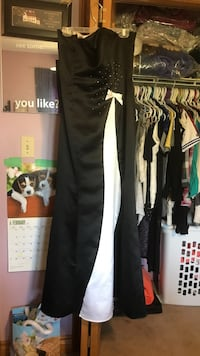 black and white sweetheart neckline maxi dress null, N4B