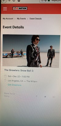 The Growlers Snowball 3 Tickets - Dec.22 @ The Wiltern Fullerton, 92833