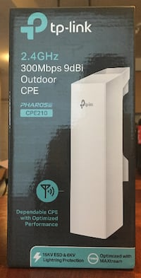 TP-Link 2.4GHz 300Mbps 9dBi Outdoor CPE (CPE210) for Outdoor Wireless Networking Applications Markham