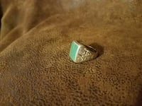 Men's Sterling Native American Turquoise Ring  Loudon, 03307