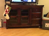 Brown wooden chest or tv stand