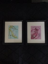 2 fashion framed prints North Vancouver, V7M 3K6