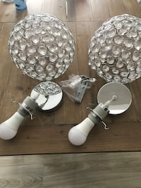Two 12 inch classy penitent lighting from bouclair home 10/10  obo. Vaughan, L4H 3N3