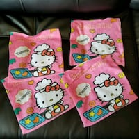 4 facecloths HELLO KITTY  Laval, H7S 1L4