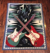 Guitar  Area Rug /  SIZE 4ft.9in x 6ft.6in