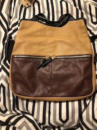 brown and black leather crossbody bag Gate City, 24251
