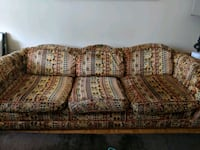 brown and beige floral 3-seat sofa Vancouver, V6H 1K8