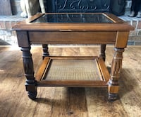 Glass top table small