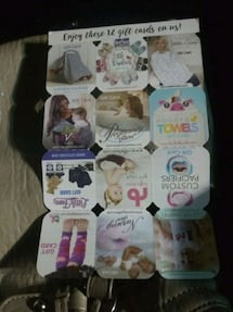 Gift cards for baby items