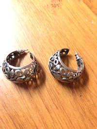 Filigree Silver hoop earrings Tuscaloosa, 35401