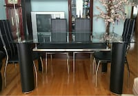 5-pc glass top dining set
