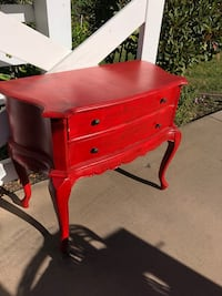 Beautiful Red End Table