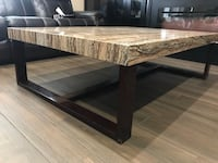 rectangular brown wooden coffee table Surrey, V3V 6X2