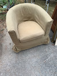 swivel barrel chair with extra canvas cover
