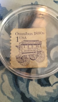 1880's 1 Cent stamp Madison trolley..