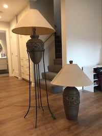 Grey table and floor lamps Burnaby, V5A 1P8