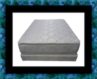 Pillowtop mattress with box spring 20708, 20708
