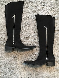 Black suede knee high boots - 38/7.5-8 Vancouver, V5R 0B2