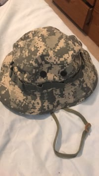 Black and gray camouflage bucket hat 519 km