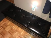 Black faux leather bench Bergenfield, 07621