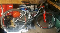 black and red hardtail mountain bike Grande Prairie, T8V 0T6