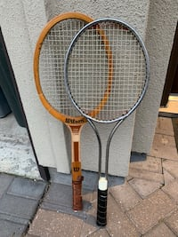 Two black and brown wilson tennis rackets Houston, 77025