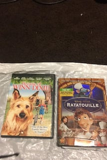 Two good movie one ratatouille one Winn Dixie both for just 5.00