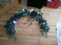 green and purple floral wreath Lansing, 48910