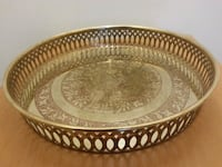 Vintage Etched Peacock Brass Tray Mississauga, L5N 2X2