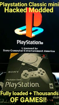 Hacked PlayStation Classic Mint + 1000'S Games Las Vegas, 89169