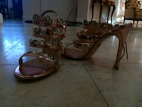 two brown-and-black leather sandals Glendale, 91205