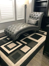 Grey Leather Chaise Caledon, L0P 1N0