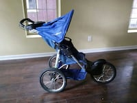 baby's gray and blue jogging stroller 47 mi