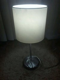 stainless steel base white shade table lamp Frederick, 21702