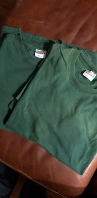 Hanes Beefy-T tee shirts x-large two for 6  Green. Ridge, 11961