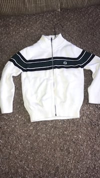 white and black zip-up jacket Kissimmee, 34746