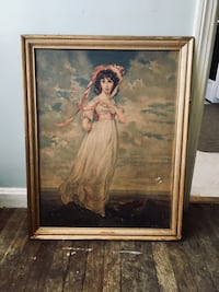 Old print with frame. 22in x28in. Please note wear to frame and print in photo Berea, 44017