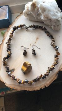 Tigers Eye Necklace & Earring Set Sioux Falls, 57110