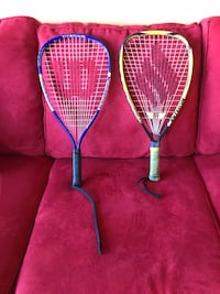 Two blue and yellow racquet ball rackets Riverdale, 20737