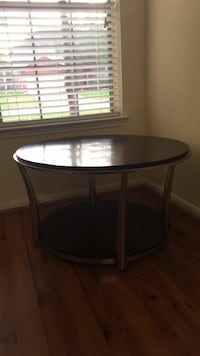round black wooden side table Houston, 77092