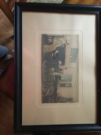 Original Wallace Nutting - Afternoon Tea  in orig frame and matting.  13x7 and 24 x 17 framed Hammonton, 08037