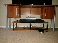 Brown wooden TV stand set 25 km