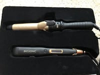"""Gold bio ionic 1.24"""" curling iron,  """"it is only the curling iron. Alexandria, 22315"""