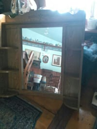 brown wood-framed wall mirror with shelf Richfield Springs, 13439