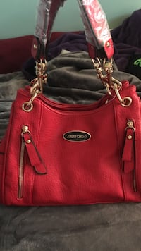 Red leather jimmy choo bag  Mission, V4S 1A4